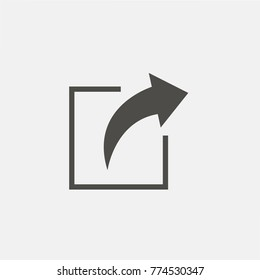 Full arrow share icon. Vector.