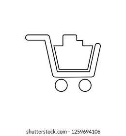 full cart in the store icon. Element of web for mobile concept and web apps icon. Thin line icon for website design and development, app development