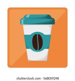 Full color espresso coffee image design, vector illustration