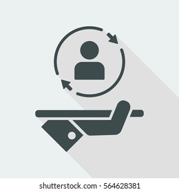 Full customized services - Vector web icon