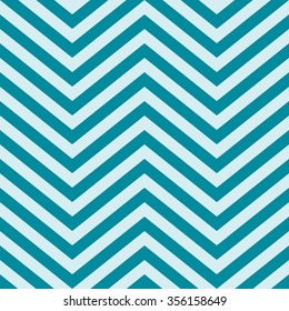 Full Frame Abstract Background in Square Image Format - Geometric Background Comprised of V Shape Chevron Patterns in Shades of Blue