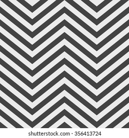 Full Frame Abstract Background in Square Image Format - Geometric Background Comprised of Black and White V Shape Chevron Patterns