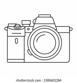 Full frame mirrorless camera icon outlines