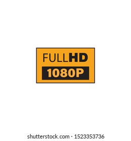 Full HD 1080p icon,vector on a white background