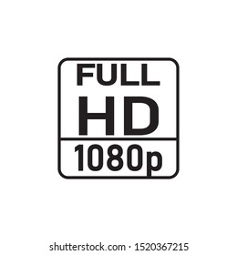 Full HD 1080p symbol on white background