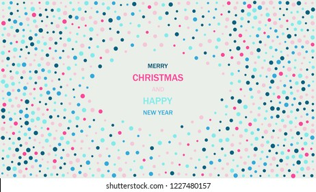 Full HD abstract winter holidays colorful circles background. EPS 10 vector illustration.