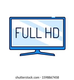 Full hd color line icon. Full High Definition. Resolution 1920 1080 pixels and a frame rate of at least 24 sec. Pictogram for web page, mobile app, promo. Editable stroke.