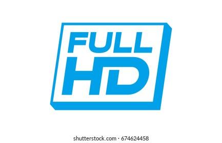 full hd icon. fhd. high definition.