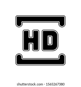 Full HD resolution button trendy style vector flat icon illustration design sign isolated on white background for web and mobile application site