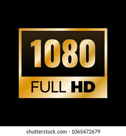 Full HD symbol, High definition 1080p resolution mark
