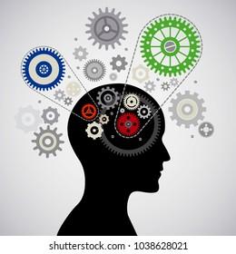 Full head solutions vector illustration