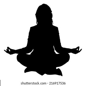 Yoga Woman Silhouette Images Stock Photos Vectors Shutterstock