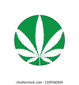 Full of Marijuana leaf, Medicine. Vector icon in flat style. isolated .on white background.