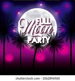 full moon party summer