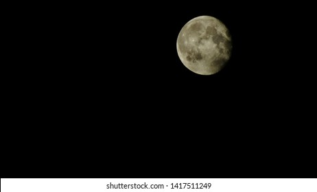 full moon photographed in a calm night of june, batna province, east of algeria