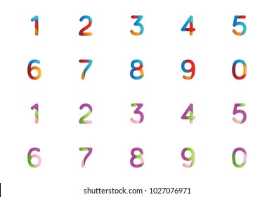 Full numeric logo and icon template