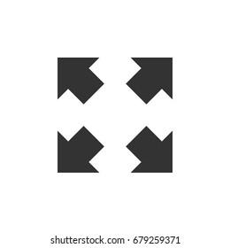 Full Screen Arrow Icon Logo Template