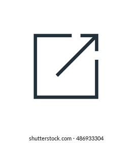 Full screen icon, Arrow, Vector