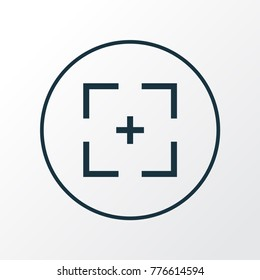 Full screen icon line symbol. Premium quality isolated target element in trendy style.