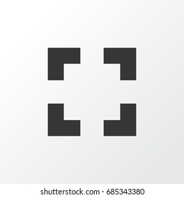 Full Screen Icon Symbol. Premium Quality Isolated Screenshot Element In Trendy Style.