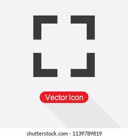 In Full Screen Icon Vector Illustration Eps10