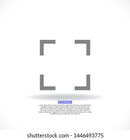 in full screen icon vector . Illustration design