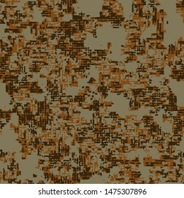 Full seamless abstract grunge pattern vector for decor and textile. Desert camouflage design for girls, boys textile fabric printing and wallpaper. Design for fashion and home design background.