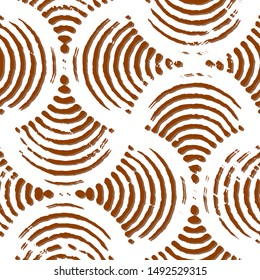Full seamless abstract pattern vector for decor and textile. Brown and white design for textile fabric printing and wallpaper. Design for woman fashion, linens and home design.