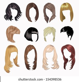 full Set of woman hair styling
