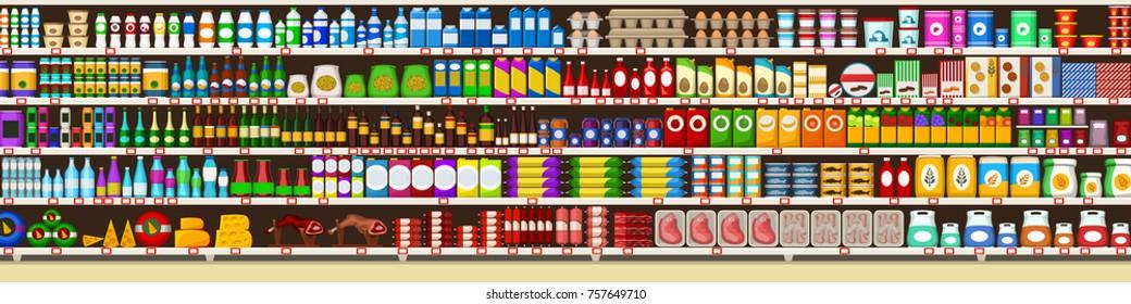 full shelves of meals