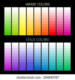 Full spectrum color pallete. Warm and cold color sets.