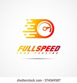 Full speed logo template design. Vector illustration.