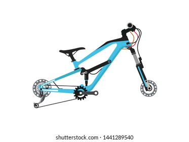 Full suspension bicycle vector Full Cross enduro bicycle frame vector