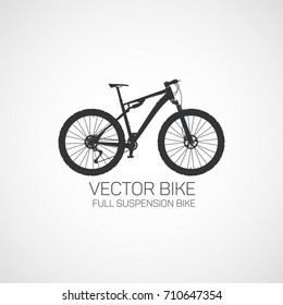 Full suspension Mountain bike.