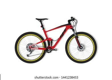 Full suspension mountain bike vector