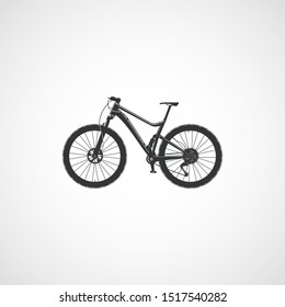 Full suspension mountain bike, vector.