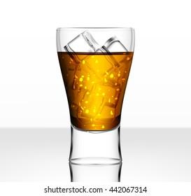 Full vector beer glass