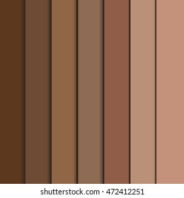 Full vector set of afro-american human skin colors from dark to bright. Colors of skin in different shades of beige pink and brown. Vector skin colors palette. Afro american colors, set.