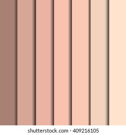 Full vector set of human skin colors from dark to bright. Colors of skin in different shades of beige pink and brown. Vector skin colors palette.