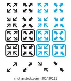 fullscreen and exit fullscreen icon