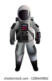 Fully editable astronaut vector, place this guy on mars, the moon or outer space. Astronaut ready to launch.