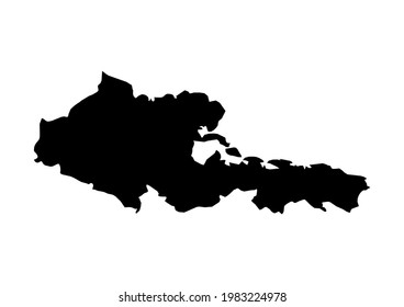 Fully editable, detailed vector map of Holguín,Provincia de Holguin,Cuba. The file is suitable for editing and printing of all sizes.