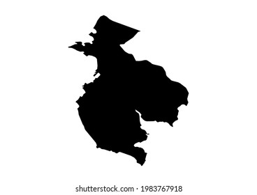 Fully editable, detailed vector map of Guanacaste,Provincia de Guanacaste,Costa Rica. The file is suitable for editing and printing of all sizes.
