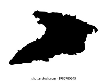 Fully editable, detailed vector map of Granma,Provincia Granma,Cuba. The file is suitable for editing and printing of all sizes.