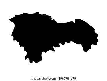 Fully editable, detailed vector map of Guadalajara,Provincia de Guadalajara,Spain. The file is suitable for editing and printing of all sizes.