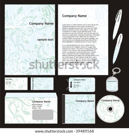 Fully Editable Vector Business Templates Set Stock Vector