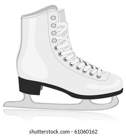 fully editable vector illustration of isolated ice skates