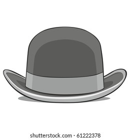 fully editable vector illustration of one hat derby