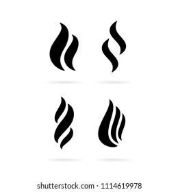 Fume smoke vector icon illustration isolated on white background