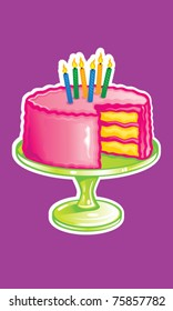 Fun Cake Illustration